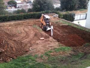 Excavación piscina Palau de Plegamans